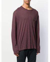 メンズ Nanushka オーバーサイズ ロングtシャツ Purple