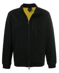 メンズ Armani Exchange ロゴ スウェットシャツ Black
