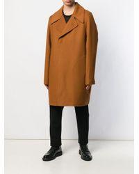 Rick Owens Brown Concealed Fastening Soft Coat for men