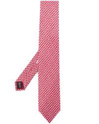 Cravate à motif animalier Ferragamo pour homme en coloris Red