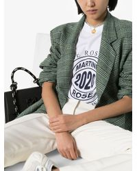 Martine Rose サイドオープン Tシャツ White