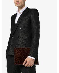 Клатч Черепаховой Расцветки Saint Laurent для него, цвет: Brown