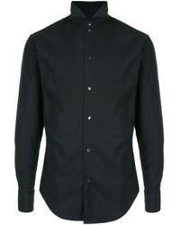 Рубашка С Манишкой Emporio Armani для него, цвет: Black