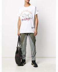 メンズ Paul & Shark ロゴ Tシャツ White