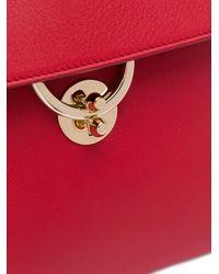 Ferragamo Red Small Jet Set Shoulder Bag