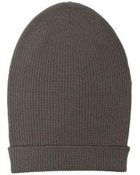 Bonnet Big Hat nervuré Rick Owens pour homme en coloris Gray
