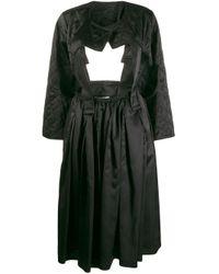 Comme des Garçons カットアウト キルティングドレス Black