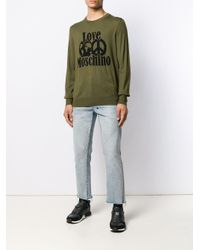 メンズ Love Moschino ロゴ セーター Green