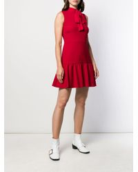 RED Valentino プリーツ ドレス Red