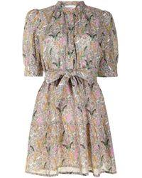 Ba&sh ボタニカルプリント シャツドレス Multicolor