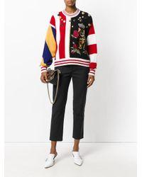 Dolce & Gabbana Multicolor Appliquéd Jumper
