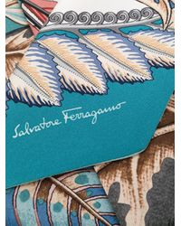 Foulard a fiori di Ferragamo in Blue