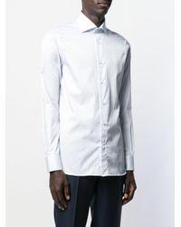 Camicia a righe di Ermenegildo Zegna in White da Uomo