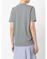 Carven - Gray Sequin Logo T-shirt - Lyst