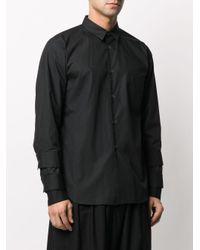 メンズ Comme des Garçons パッチポケット シャツ Black