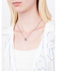 Rosa Maria - Metallic Peace & Love Sign Pendant Necklace - Lyst