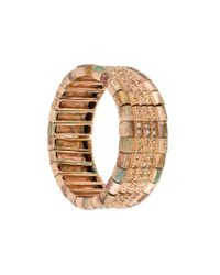 Philippe Audibert - Metallic Elasticated Embellished Bracelet - Lyst