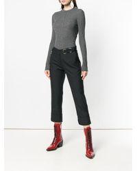 Chloé Gray Ribbed Sweater