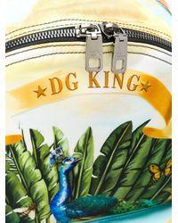 """Dolce & Gabbana Rucksack mit """"DG King""""-Print in Yellow für Herren"""
