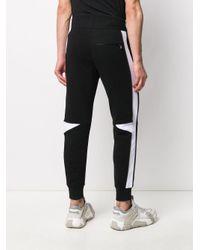 Pantalones de chándal a paneles Alexander McQueen de hombre de color Black