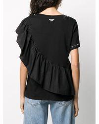 Twin Set ラッフルトリム Tシャツ Black