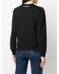 Karl Lagerfeld ロゴ スウェットシャツ Black