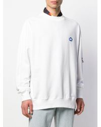 メンズ ADER ERROR ロゴ スウェットシャツ White