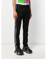 Pantalon à bandes logos Palm Angels pour homme en coloris Black