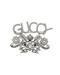 メンズ Gucci Guccy クリスタル ブローチ Multicolor