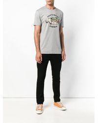 Roberto Cavalli Gray Don't Trust Fashion T-shirt for men