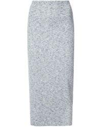 Victoria Beckham - Blue Knitted Pencil Skirt - Lyst