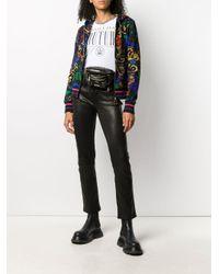 Versace Jeans バロッコ フローラル パーカー Black