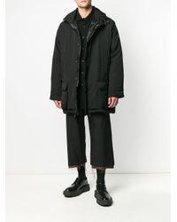 メンズ Yohji Yamamoto ポインテッドカラー シャツ Black