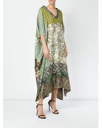 Pierre Louis Mascia Green Printed Kimono Dress
