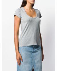 Rag & Bone Blue U-neck T-shirt