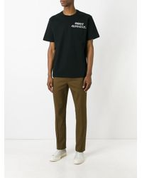Sacai - Black Chest Emblem T-shirt for Men - Lyst