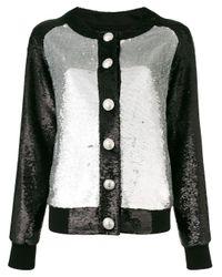 Balmain Black Contrast Embellished Jacket