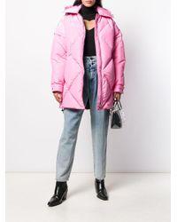 MSGM パデッド コート Pink