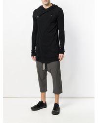 Rick Owens - Black Long Knitted Hoodie for Men - Lyst