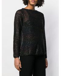 M Missoni Black Metallic Glitter Knitted Jumper