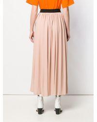 MSGM プリーツ マキシスカート Pink