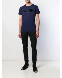 Camiseta con cuello alto DSquared² de hombre de color Blue