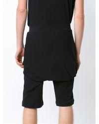 Thamanyah - Black Drop-crotch Shorts for Men - Lyst