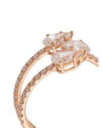 Anita Ko - Metallic Gold Three-stone Claw Ring - Lyst
