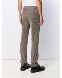 Pantalones rectos de pana Incotex de hombre de color Brown