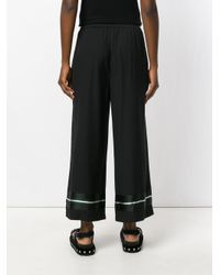 I'm Isola Marras - Black wide-legged Cropped Pyjama Trousers - Lyst