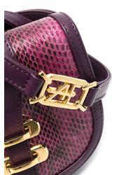 Alberta Ferretti スネークパターン ミニバッグ Purple