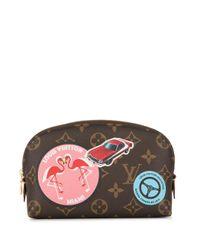 Louis Vuitton ポシェットコスメティック クラッチバッグ Brown