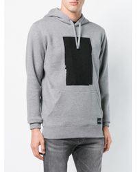 Ck Jeans Gray Box Print Hoodie for men