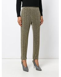 Golden Goose Deluxe Brand Metallic Glitter-effect Fitted Trousers